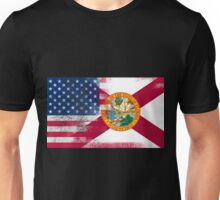 Florida American Flag Fusion Unisex T-Shirt