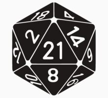 21 Sided 21st Birthday D20 Fantasy Gamer Die by TheShirtYurt