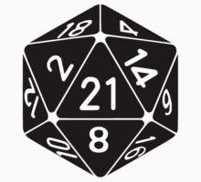 21 Sided 21st Birthday D20 Fantasy Gamer Die by TheShirtYurt