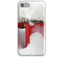 Red snow iPhone Case/Skin