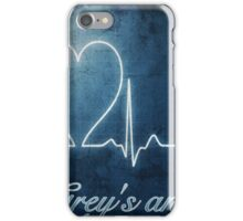 Heart beat- Grey's anatomy iPhone Case/Skin