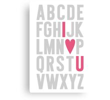 ABC I Love You Pink Canvas Print