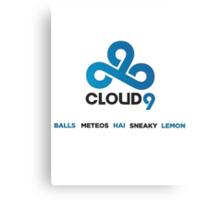 Cloud 9 TEAM Canvas Print