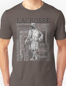 Word Montage LACROSSE (Male-border) T-Shirt
