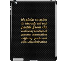 """We pledge ourselves... """"Nelson Mandela"""" Inspirational Quote iPad Case/Skin"""