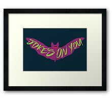 The Joking Bat Framed Print