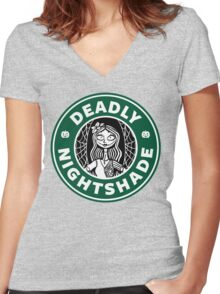 Deadly Nightshade Women's Fitted V-Neck T-Shirt