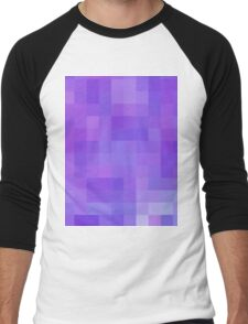 Re-Created Colored Squares No. 20 by Robert S. Lee Men's Baseball ¾ T-Shirt