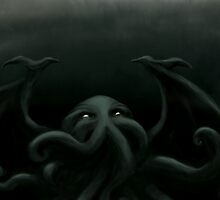 Cthulhu waits, dreaming by JennieMarie