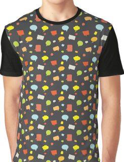 Cartoon Speech Bubbles Graphic T-Shirt