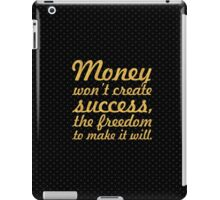 """Money won't create... """"Nelson Mandela"""" Inspirational Quote iPad Case/Skin"""