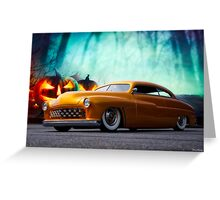 1950 Mercury 'Spooky' Custom Coupe Greeting Card