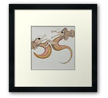 two dragons Framed Print