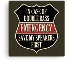 Save my speakers Canvas Print