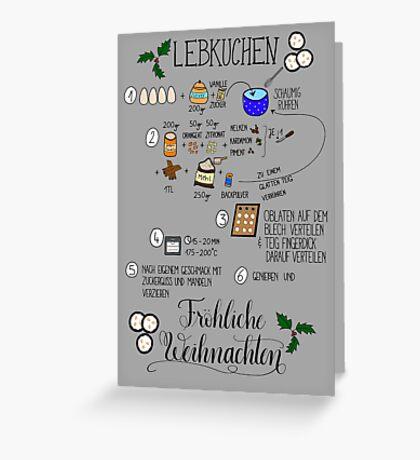 Weihnachtskarte Lebkuchenrezept Greeting Card
