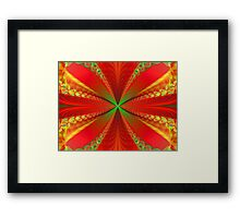Green Red And Gold Framed Print