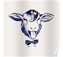 Cheeky sheep with a bow tie Poster