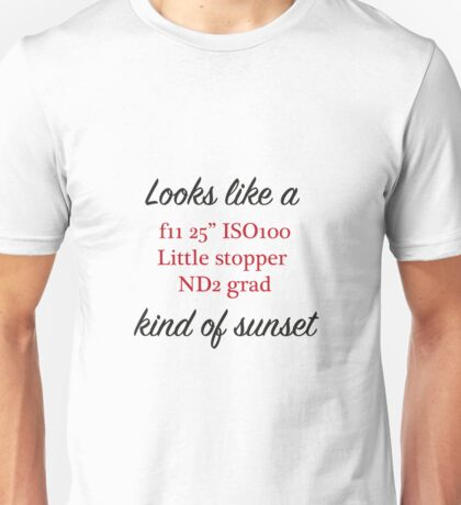 Photographers sunset Unisex T-Shirt