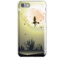 Flying Witch in the Woods2 iPhone Case/Skin