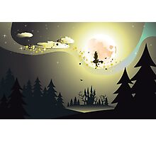 Flying Witch in the Woods2 Photographic Print