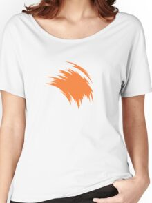 Painterly Orange Women's Relaxed Fit T-Shirt