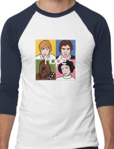 Hope_B (vinyl square version) Men's Baseball ¾ T-Shirt