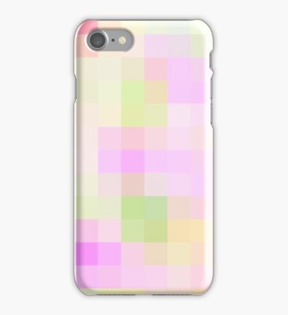 Re-Created Colored Squares No. 4 by Robert S. Lee iPhone Case/Skin