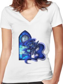 MLP Princess of the Night Women's Fitted V-Neck T-Shirt
