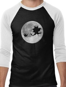 Santa Claus Dragon Rider Sleigh Ride Men's Baseball ¾ T-Shirt