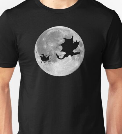 Santa Claus Dragon Rider Sleigh Ride Unisex T-Shirt
