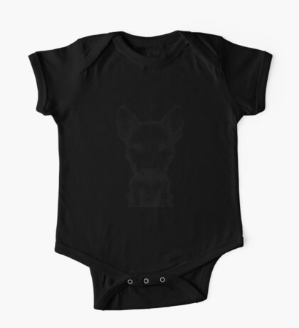Bull Terrier Pencil Sketch One Piece - Short Sleeve