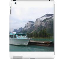 Atmospheric mountains at Maligne Lake iPad Case/Skin