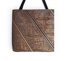 Ornate Wooden Surface Tote Bag