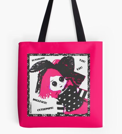 Pink Dollface Cutiepops Tote Bag