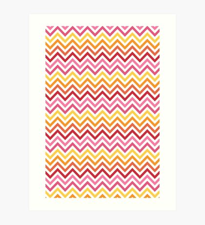 Rainbow Chevron #1 Art Print