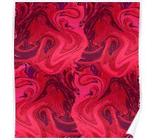 Purple marbled texture, rich ebru technique, marbling paper. Poster