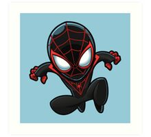 Spiderman in Black Art Print