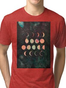 Moon Phases - Lunar Phases - Hipster Moon Phases  Tri-blend T-Shirt