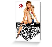 ROGUE PINUP SPORTY Greeting Card