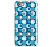 Retro Mod Blue Abstract  iPhone Case/Skin