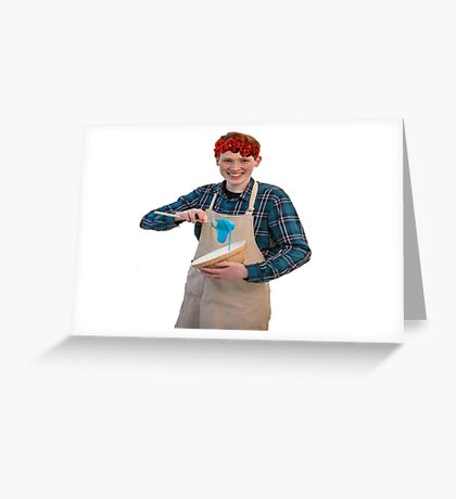 Andrew Flower Crown Greeting Card