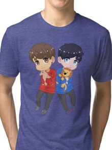 AmazingPhil and Danisnotonfire with Plushes Tri-blend T-Shirt