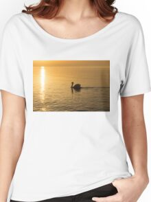 Gliding on Silky Gold - the Swan and the Sunpath Women's Relaxed Fit T-Shirt