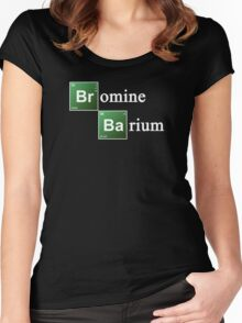Bromine and Barium Periodic Table Chemistry Elements Women's Fitted Scoop T-Shirt