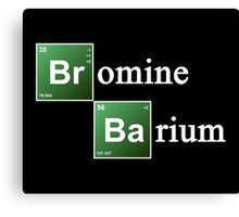 Bromine and Barium Periodic Table Chemistry Elements Canvas Print