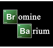 Bromine and Barium Periodic Table Chemistry Elements Photographic Print