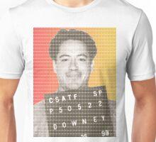 Robert Downey Jr Mug Shot Unisex T-Shirt