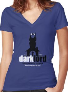 Dark Lord Home Security Systems Women's Fitted V-Neck T-Shirt