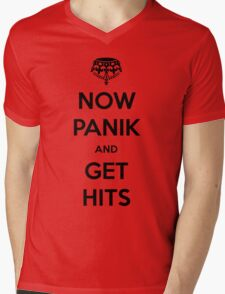 Now Panik and Get Hits Mens V-Neck T-Shirt