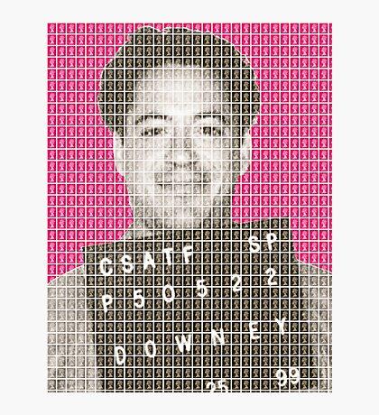 Robert Downey Jr Mug Shot - Pink Photographic Print